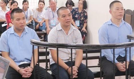 Các bị cáo tại phiên tòa trước.