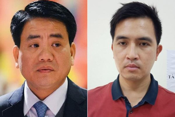 Ông Nguyễn Đức Chung (trái) và Nguyễn Trường Giang. Ảnh: Vietnamnet.