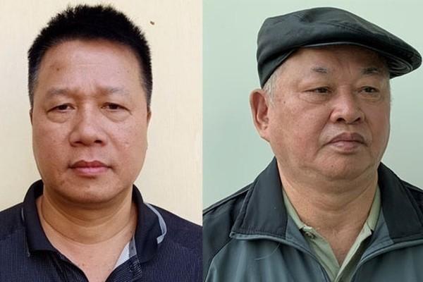 Bị can Trần Quang Tiến (trái) và Đào Quốc Việt. Ảnh: Bộ Công an.
