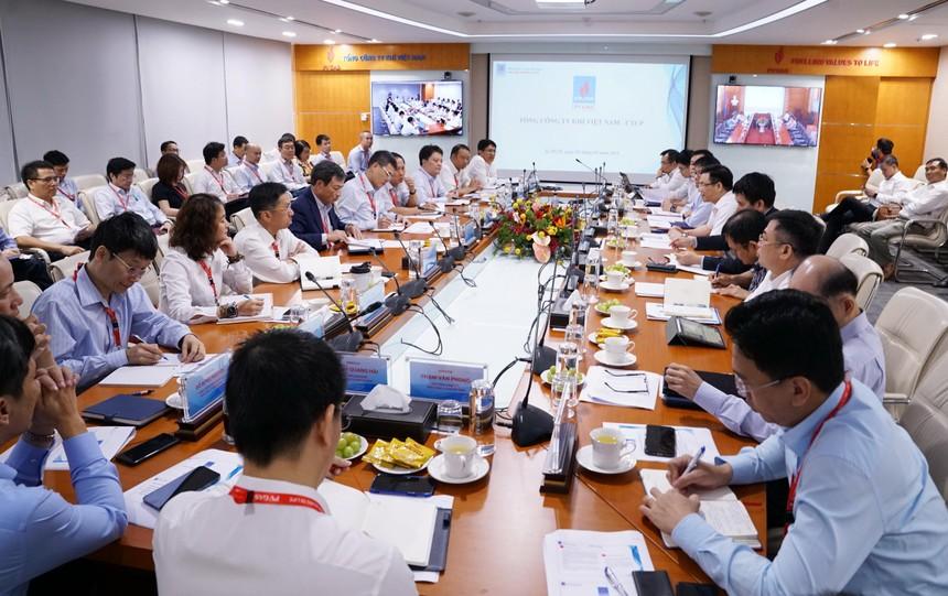 Cuộc họp làm việc của Ban Lãnh đạo PVN tại PV GAS được tổ chức tại trụ sở PV GAS (Nguồn: PV GAS)