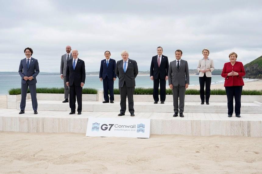 Hội nghị thượng đỉnh G7 năm 2021 tổ chức ở Cornwall (Anh). Nguồn: Reuters