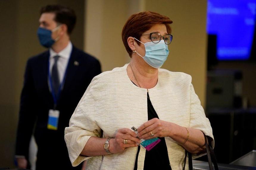 Bộ trưởng Ngoại giao Úc Marise Payne trong một chuyến thăm trụ sở Liên hợp quốc ở New York.