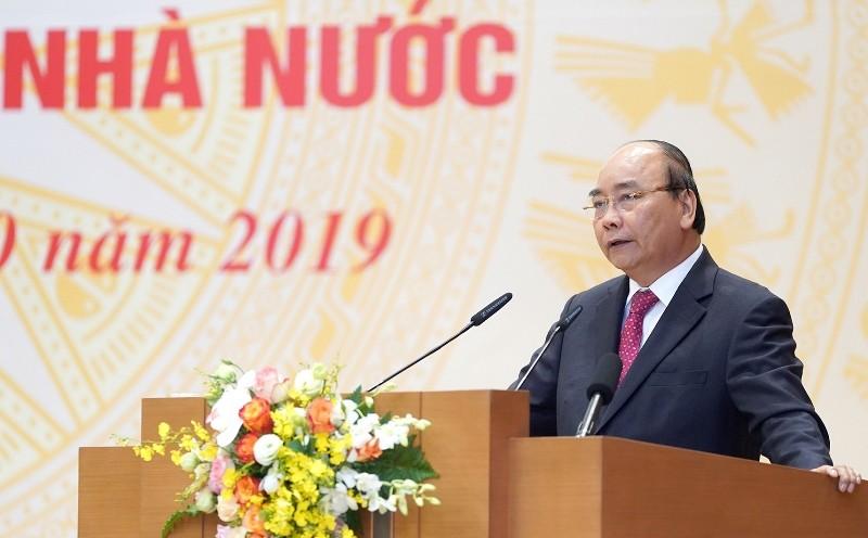 Thủ tướng Nguyễn Xuân Phúc phát biểu tại Hội nghị đổi mới, nâng cao hiệu quả hoạt động của doanh nghiệp nhà nước năm 2019