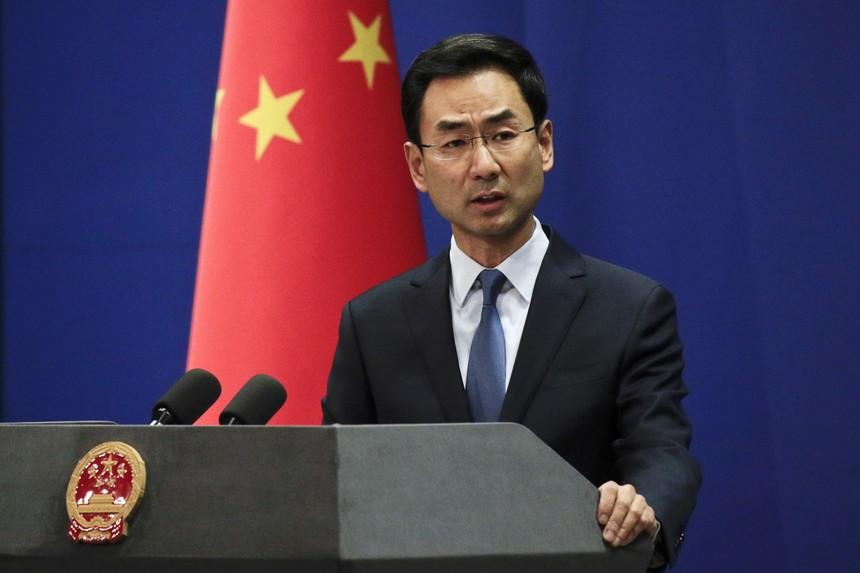 Ông Cảnh Sảng, Phát ngôn viên chính thức của Bộ Ngoại giao Trung Quốc. Ảnh: China Daily.