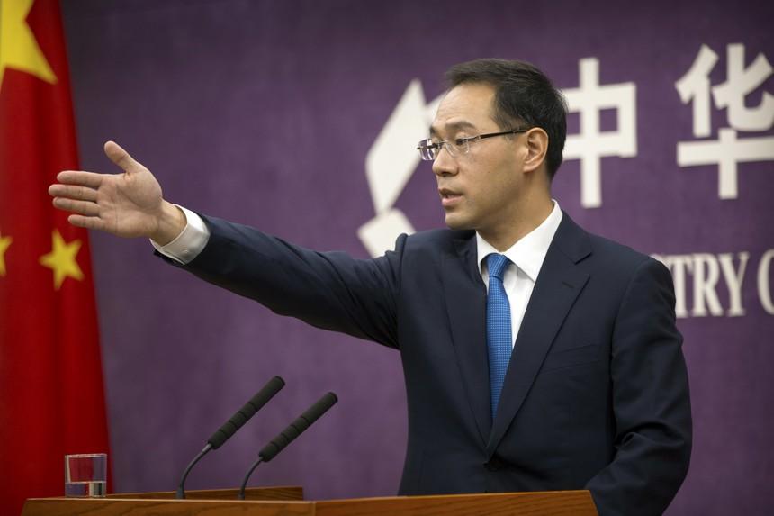 Gao Feng, Phát ngôn viên Bộ Thương mại Trung Quốc. Ảnh: AP.