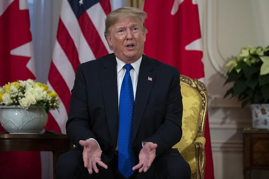 Tổng thống Mỹ Donald Trump tại London ngyà 3/12. Ảnh: AP.