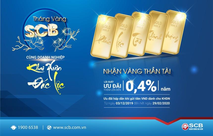 """""""Tháng vàng SCB – Cùng Doanh nghiệp khai xuân đắc lộc"""""""