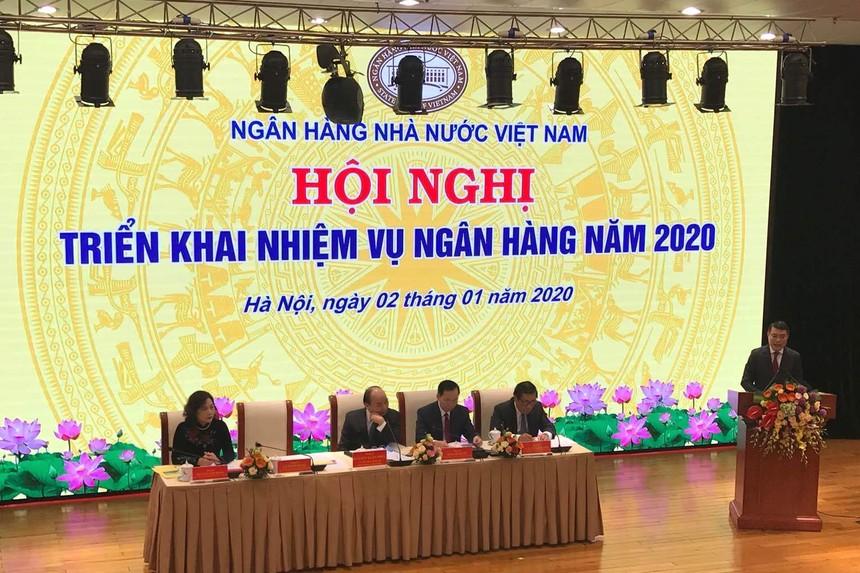 Thống đốc Ngân hàng Nhà nước Lê Minh Hưng phát biểu tại Hội nghị