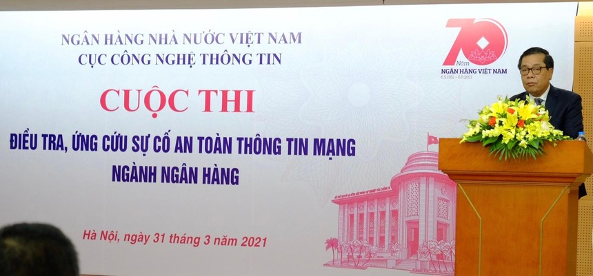 Phó Thống đốc Ngân hàng Nhà nước Việt Nam Nguyễn Kim Anh tham dự và chỉ đạo tổ chức thực hiện cuộc thi.