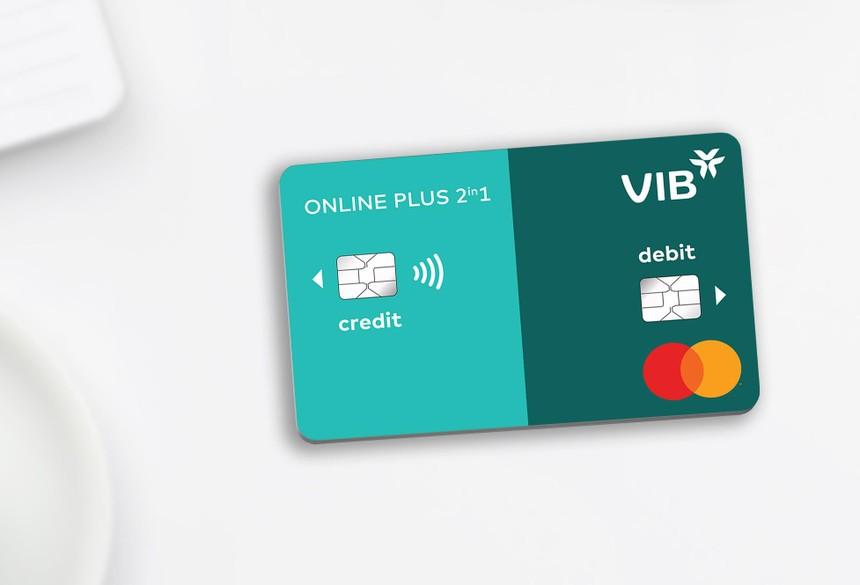 Thẻ VIB Online Plus 2in1 là dòng thẻ đầu tiên tại Đông Nam Á tích hợp thẻ tín dụng và thẻ thanh toán.