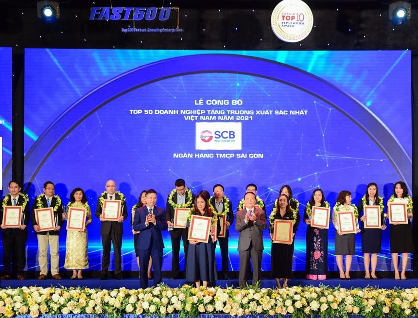 SCB: Top 50 Doanh nghiệp tăng trưởng xuất sắc nhất Việt Nam 2021