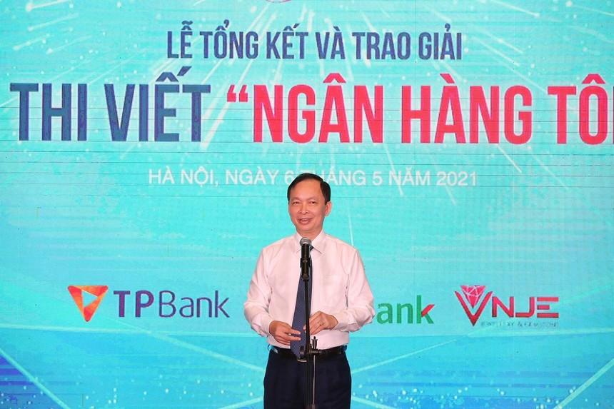 Ông Đào Minh Tú, Phó Thống đốc thường trực Ngân hàng Nhà nước Việt Nam phát biểu tại sự kiện.