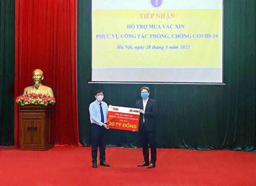 MSB và Tập đoàn TNG Holdings Việt Nam ủng hộ 30 tỷ đồng cho công tác phòng, chống dịch bệnh