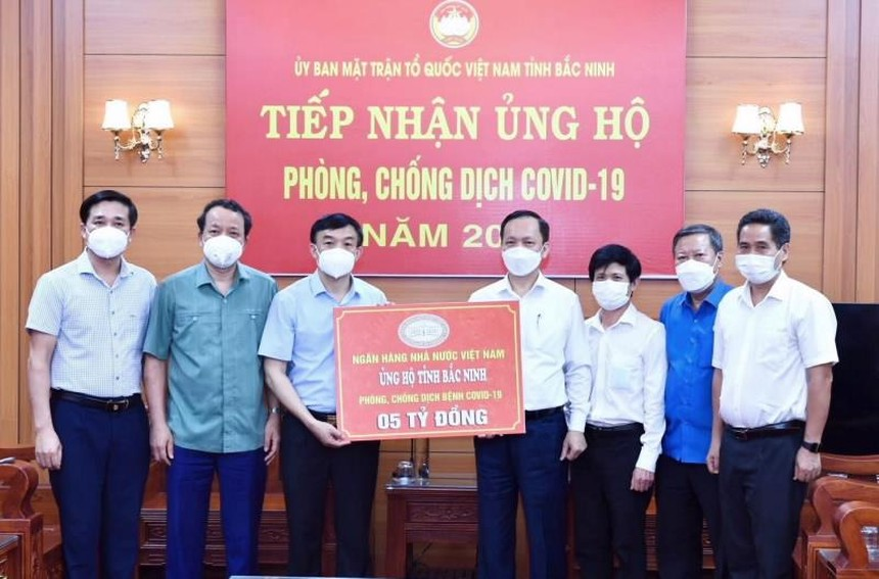 NHNN ủng hộ tỉnh Bắc Ninh và Bắc Giang phòng, chống dịch bệnh Covid-19
