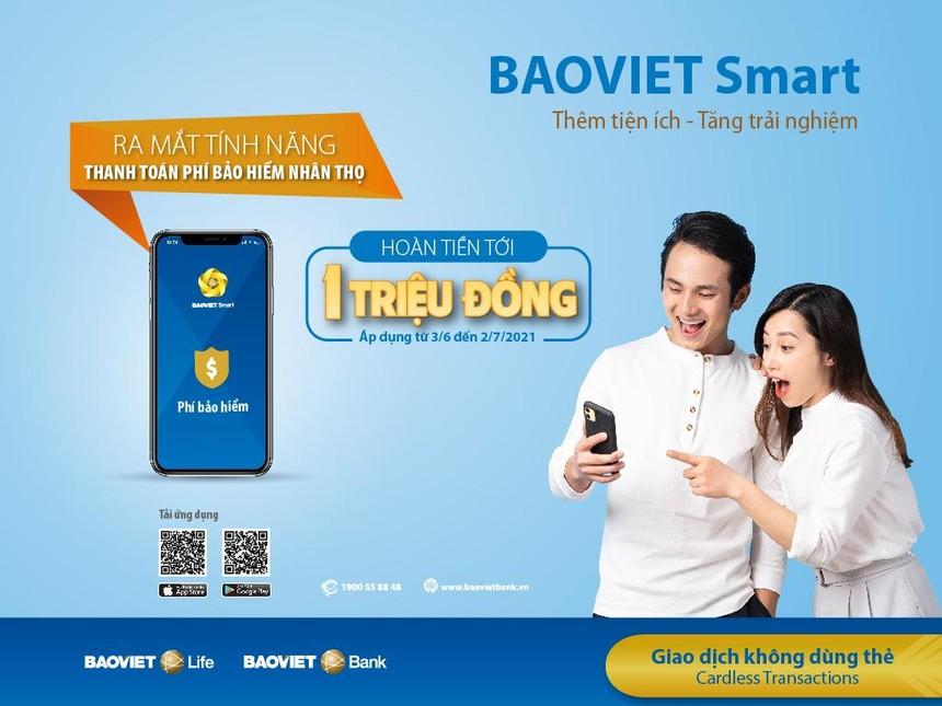 BAOVIET Bank hoàn tiền tới 1 triệu đồng cho khách hàng