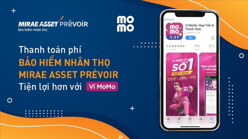 Khách hàng của Mirae Asset Prévoir có thể đóng phí qua MoMo