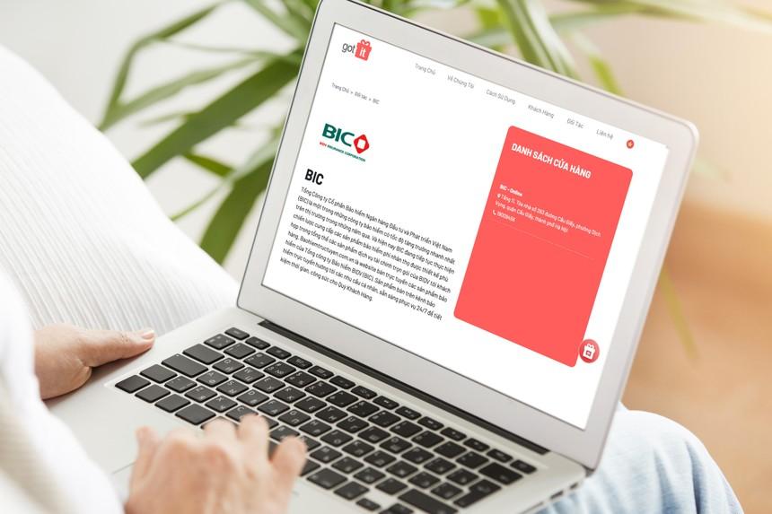 Khách hàng có thể sử dụng voucher điện tử để mua bảo hiểm của BIC