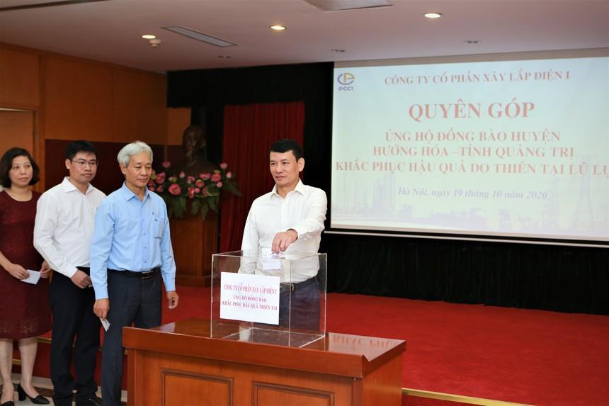 Ban lãnh đạo và cán bộ nhân viên PCC1 tích cực tham gia quyên góp ủng hộ đồng bào miền Trung