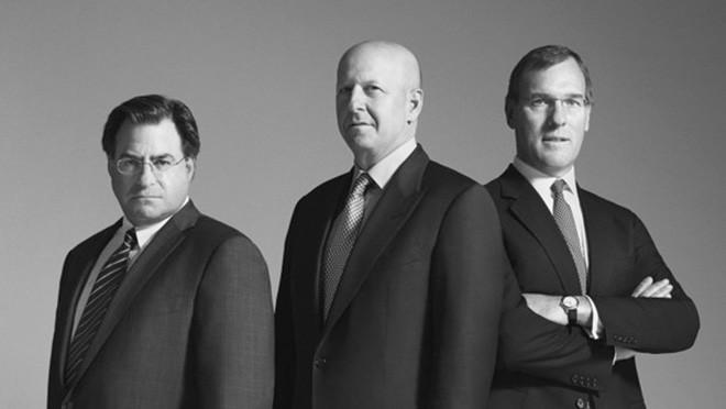 Từ trái sang: John Weinberg, David Solomon, Richard Gnodde