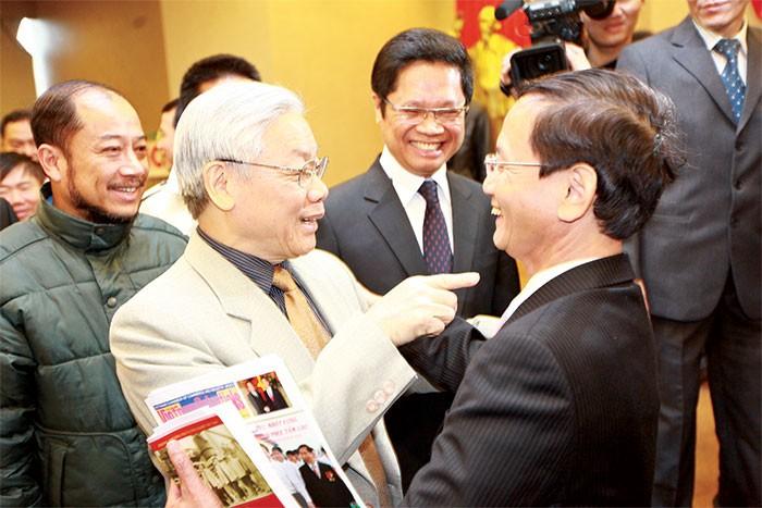 Tổng Bí thư Nguyễn Phú Trọng gặp gỡ doanh nhân tại Phòng Thương mại và Công nghiệp (VCCI)
