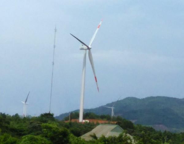 Turbine gió của Nhà máy điện gió Hướng Linh 2 (Ảnh -EVNCHP)