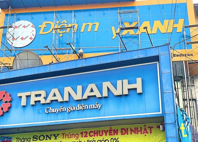 Các siêu thị điện máy Trần Anh dần được thay thế bởi Điện máy xanh. Ảnh: Hồng Phúc