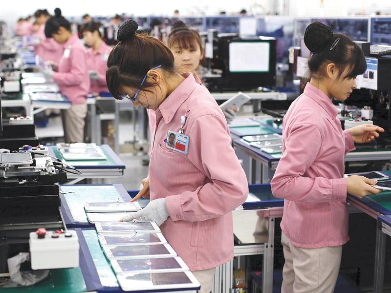 Tăng trưởng IIP ở Bắc Ninh và Thái Nguyên bắt đầu chậm lại, do sản xuất của Samsung đã tới hạn. Ảnh: Đức Thanh