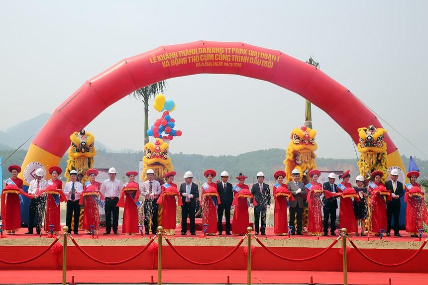 Quang cảnh lễ khánh thành Khu CNTT tập trung Đà Nẵng. Ảnh: VGP/Đình Nam