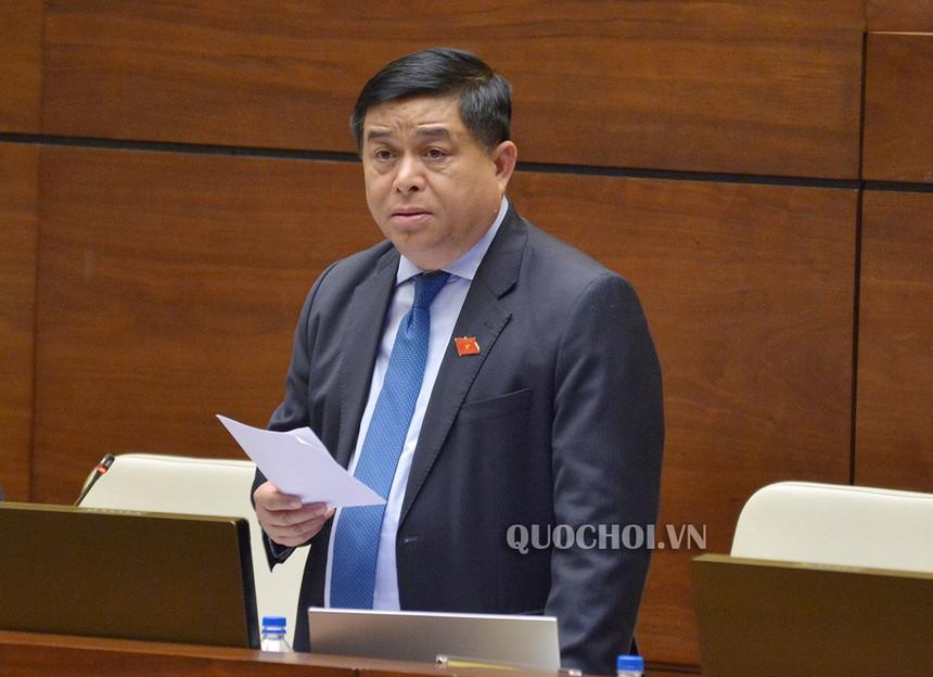 Bộ trưởng Nguyễn Chí Dũng tại phiên thảo luận sáng 31/5