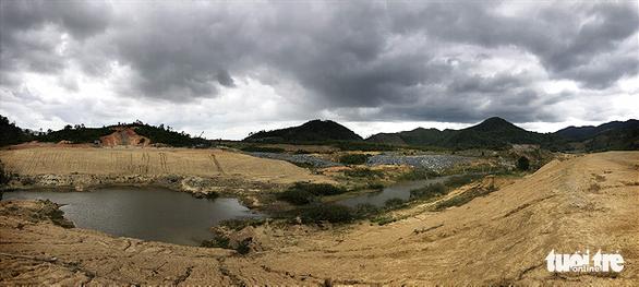 Cụm công trình đầu mối tại thôn 15 xã Cư Yang, Ea Kar đến nay vẫn còn dang dở vì chưa hoàn thành giải phóng mặt bằng - Ảnh: TRUNG TÂN