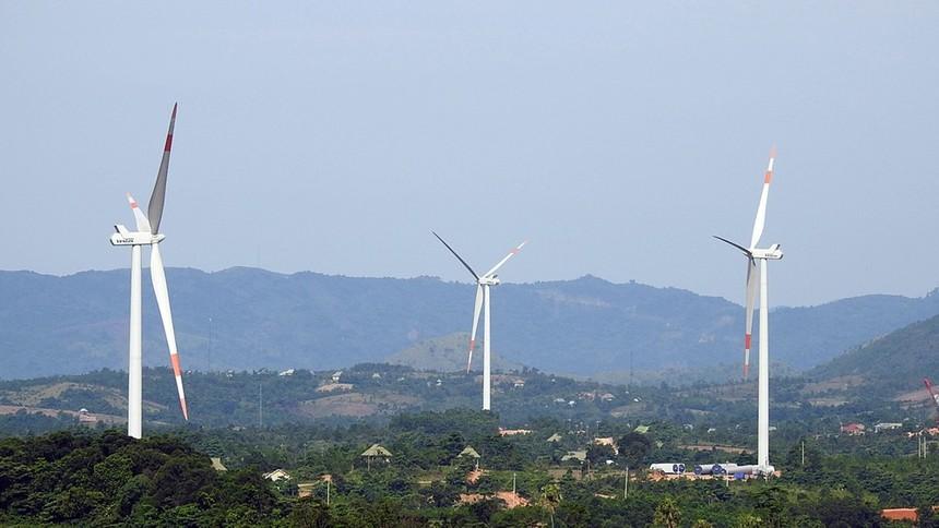 Tiến độ thực hiện các dự án điện gió tại Hướng Hóa còn chậm so với kế hoạch ban đầu.