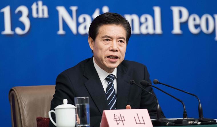 Ông Trung Sơn - Bộ trưởng Thương mại Trung Quốc. Ảnh: AFP