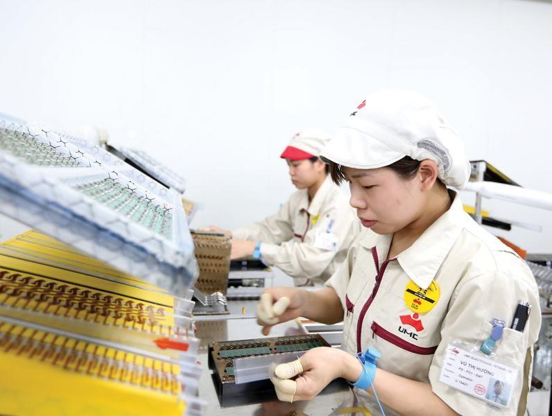 Sản xuất tại Công ty Điện tử UMC Việt Nam (Hà Nam). Ảnh:Đức Thanh