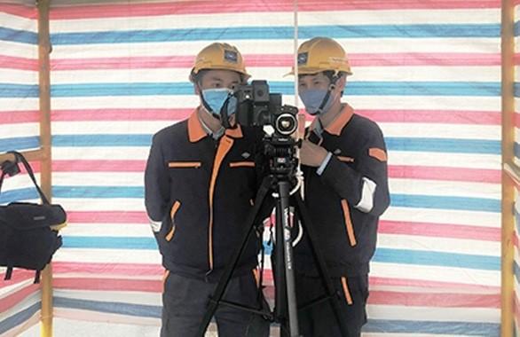 Công ty Formosa Hà Tĩnh đã lắp đặt các máy hồng ngoại đo thân nhiệt cán bộ, nhân viên.
