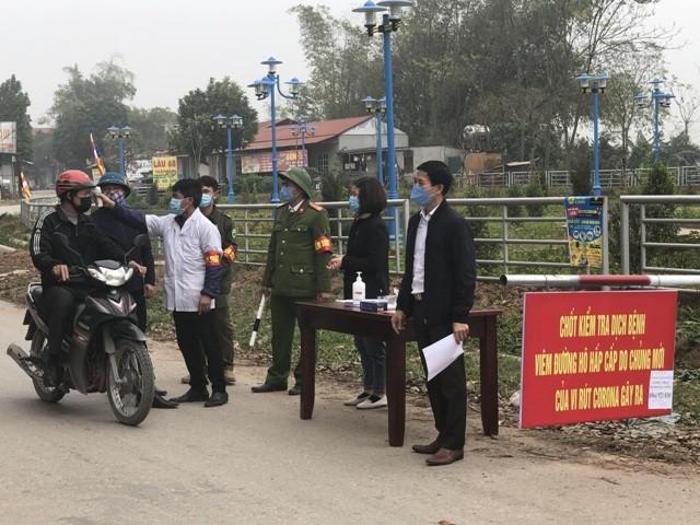 Xã Lôi Sơn (Vĩnh Phúc) thực hiện triệt để cách ly (Ảnh: Internet)