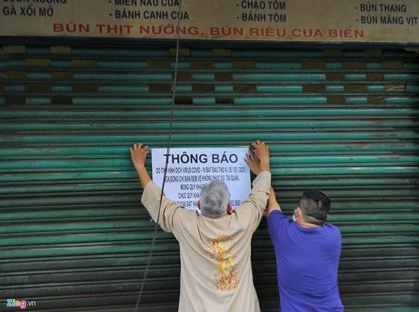 Nhiều nhà hàng quá ăn ở TP.HCM đã đóng cửa