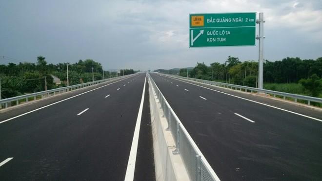 Tuyến cao tốc Quảng Ngãi-Bình Định được đầu tư xây dựng sẽ đấu nối với tuyến Đà Nẵng-Quảng Ngãi đang vận hành