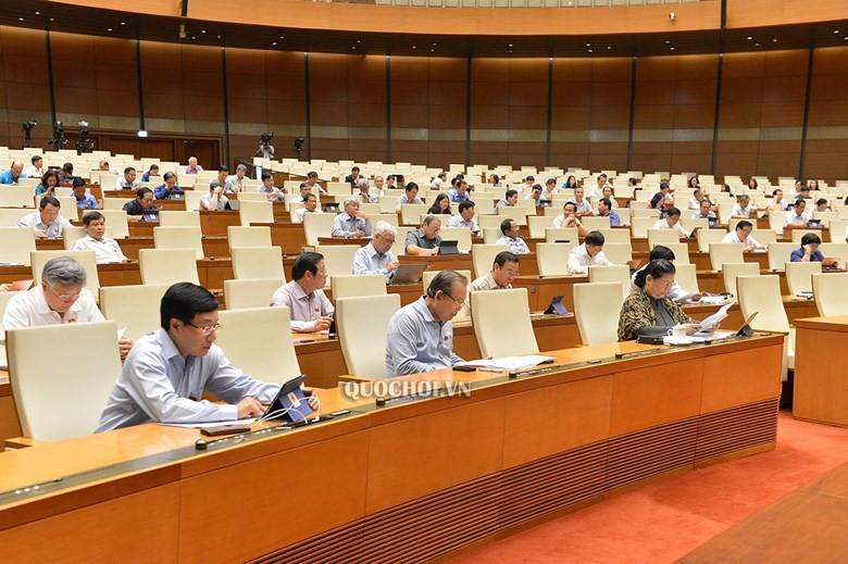 Một phiên họp của Quốc hội tại kỳ hop thứ 9.