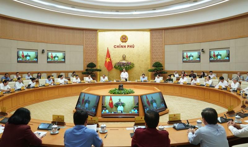 Phiên họp Chính phủ thường kỳ tháng 5/2020 (Ảnh: VGP)