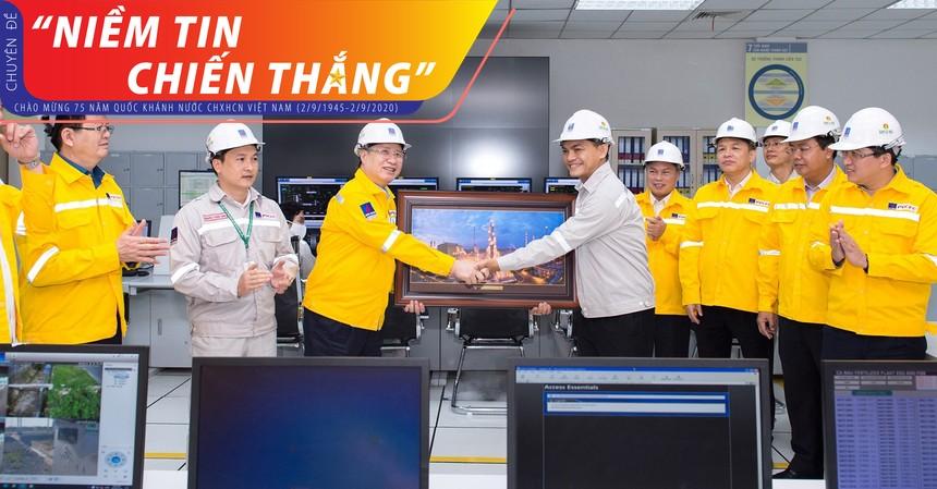 Ông Trần Quốc Vượng, Ủy viên Bộ Chính trị, Thường trực Ban Bí thư Trung ương Đảng đã đến thăm và làm việc tại Cụm công nghiệp Khí Điện Đạm Cà Mau