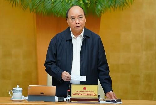 Thủ tướng chủ trì phiên họp Chính phủ thường kỳ tháng 10/2020 (Ảnh: VGP)