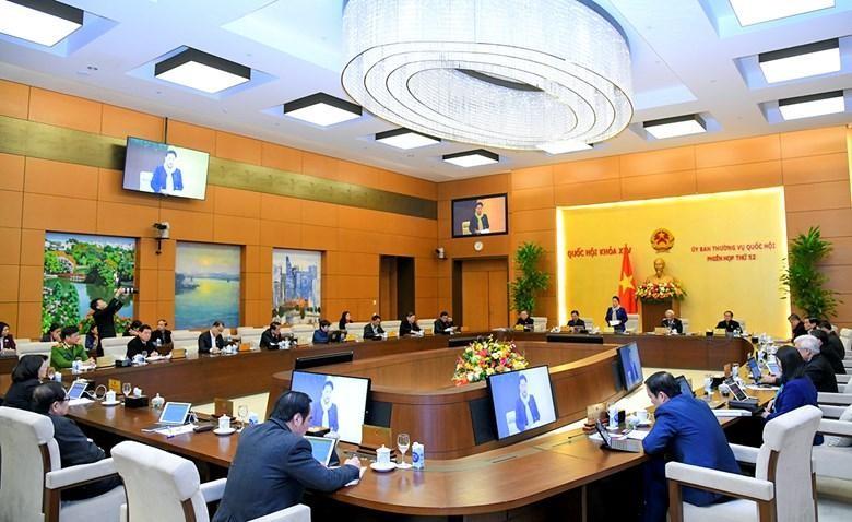 Uỷ ban Thường vụ Quốc hội bắt đầu phiên họp thứ 52 (Ảnh Quốc hội)