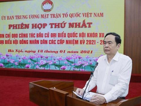 Chủ tịch Uỷ ban Trung ương MTTQ Việt Nam, Phó Chủ tịch Hội đồng bầu cử quốc gia, ông Trần Thanh Mẫn.