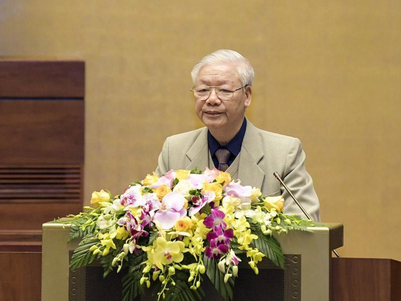 Tổng Bí thư, Chủ tịch nước Nguyễn Phú Trọng phát biểu tại hội nghị - (Ảnh MA).