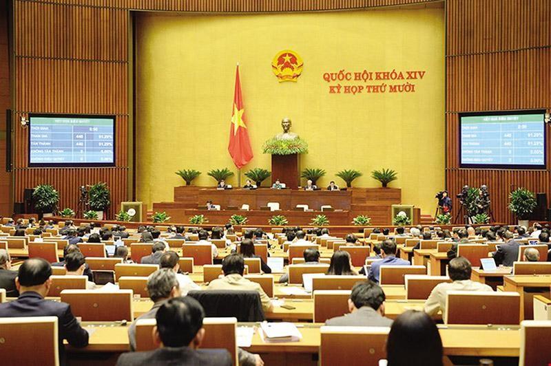 Một trong những điểm mới trong hoạt động của Quốc hội nhiệm kỳ này là đã tăng cường tính công khai, minh bạch trong xây dựng, ban hành văn bản. Ảnh: N.L