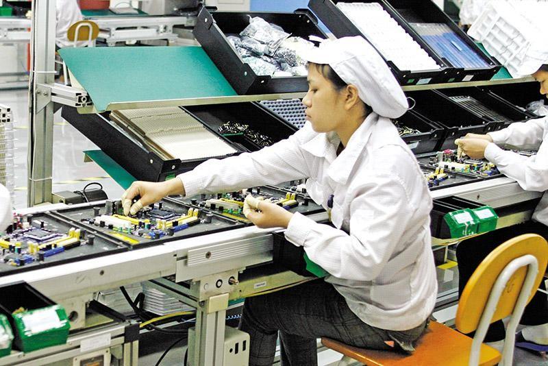 Hoạt động tại Nhà máy Foxconn Bắc Giang. Ảnh: Đức Thanh