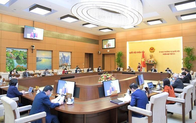 Trong phiên họp thứ 53, Ủy ban Thường vụ Quốc hội cũng đã đề cập công tác nhân sự (Ảnh Quốc hội).