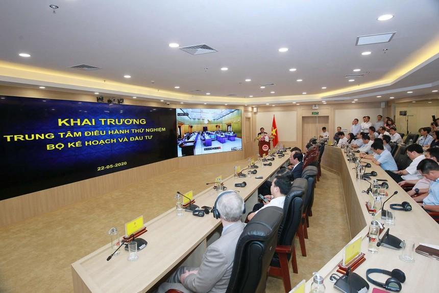 Sự kiện khai trương Trung tâm Điều hành của Bộ Kế hoạch và Đầu tư. Ảnh: Chí Cường