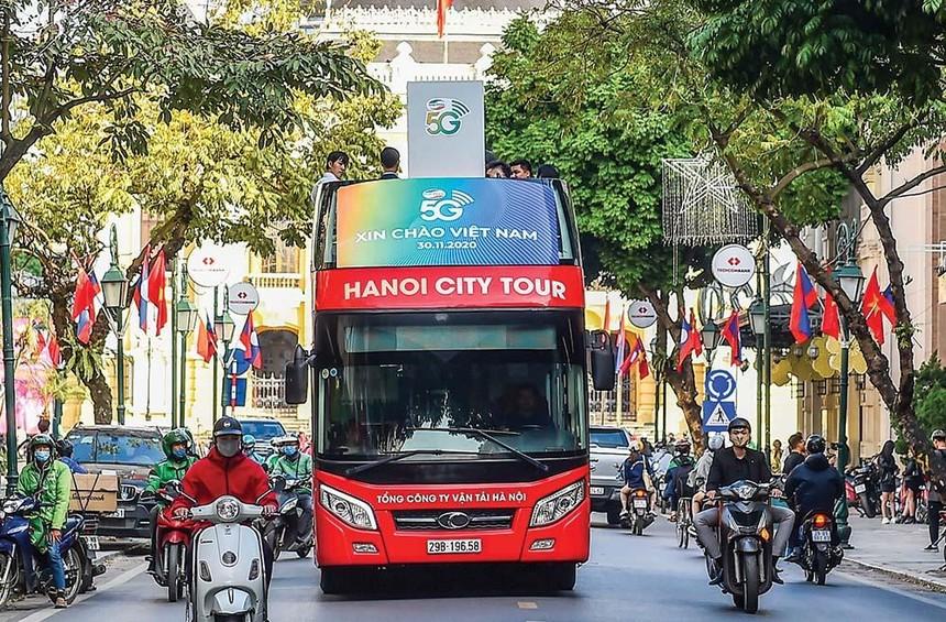 Hà Nội là một trong những địa phương được các nhà mạng triển khai thử nghiệm thương mại 5G sớm nhất trên cả nước. Ảnh: Đ.Thanh