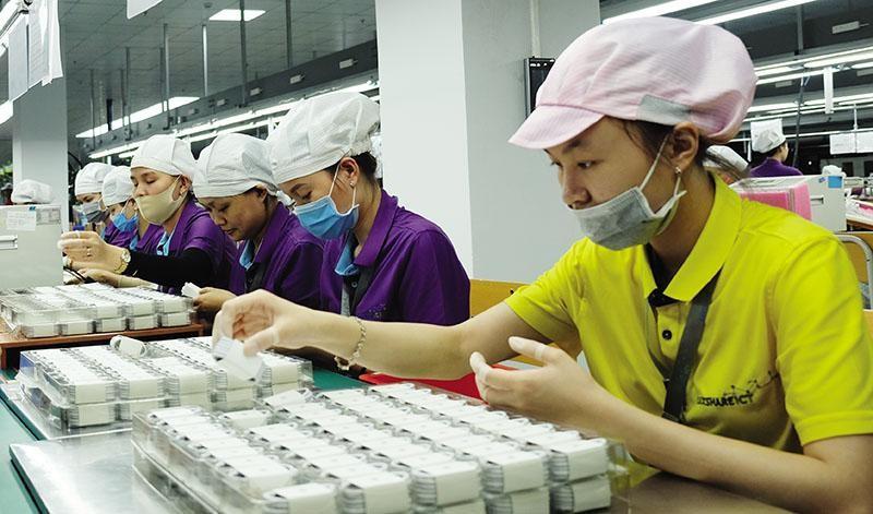 Luxshare không ngừng tăng vốn đầu tư vào Việt Nam. Trong ảnh: Nhà máy Luxshare ở Nghệ An. Ảnh: Đức Thanh